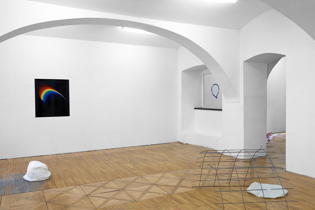 Ausstellung, Linz, BB15, Offspace, Kunstverein, Pio Rahner, 2017, Videoloop, Airbag und Rainbow
