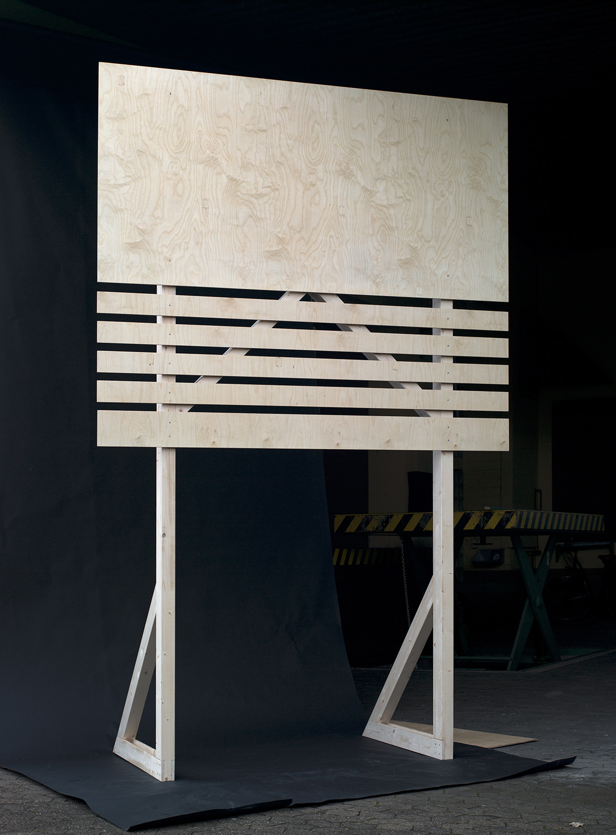 Pio Rahner, 18/1,Bauschild, 2010, Kunst im öffentlichen Raum, Essen, Folkwang